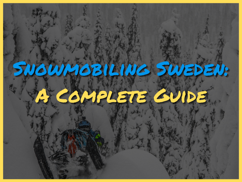 Snowmobiling Sweden