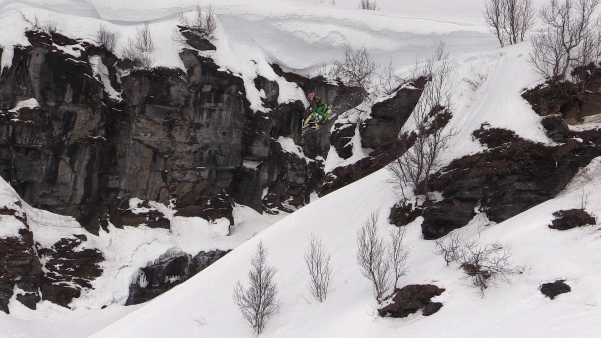 Snowmobiling Sweden Terrain